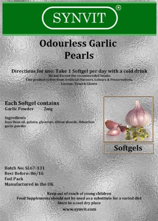 SYNVIT® Odourless Garlic Pearls